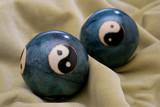 a pair of stress balls poster