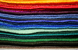 colorful fabric samples poster