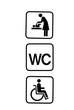 wickeln, wc, behindert