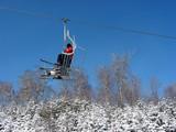 ski chairlift poster
