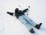 child ski winter poster