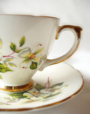 antique teacup poster