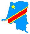 carte et drapeau 2006 de la rdc