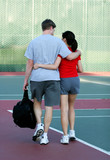 tennis court romance poster