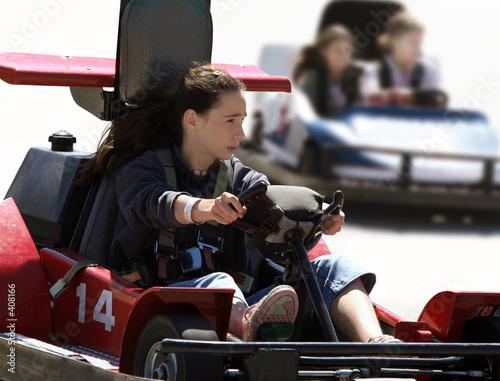 Leinwandbild Motiv girls on go cart