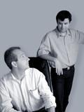 businessmen talking poster