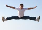 boy jumping poster