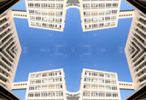 marseille building pattern poster
