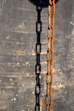rusted chain and shadow poster