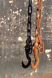 rusted chain and shadow 2 poster