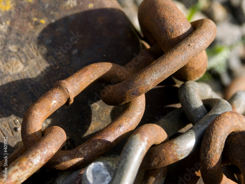 poster of rusted chains