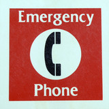 emergency phone poster