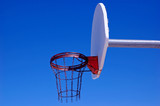 basketball goal and metal net