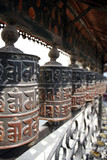 prayer wheels - nepal poster