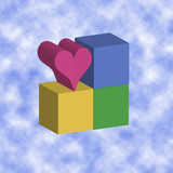 love blocks - clouds