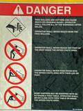 danger warning poster
