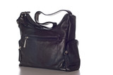 black leather handbag poster