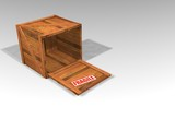 wooden crate poster