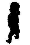 silhouette with clipping path of woman standing lo poster