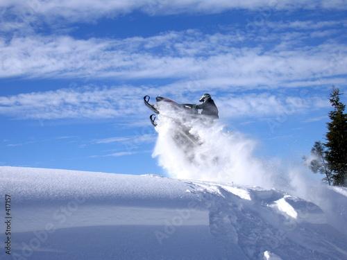 Plexiglas Wintersporten davey jumping polaris 600 rmk