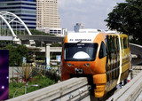 malaysia, kuala lumpur: monorail poster