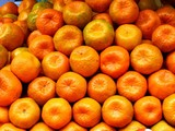 fresh natural tangerines poster