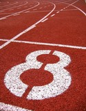 athletic surface markings -- number eight poster