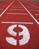 athletic surface markings - number nine poster