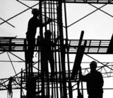 construction workers silhouette poster