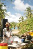rasta man cooking poster