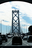 traffic on bay bridge poster