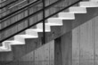 concrete stairs with rails