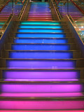 colourful stairs poster