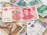 pile of renminbi poster