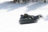 children sledding poster