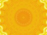 sliced orange kaleidoscope poster