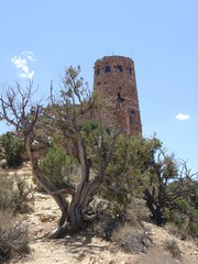 anasazi tower at grand canyon, arizona