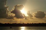 caribbean sunset at key west islands, florida poster