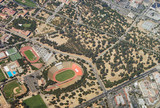 stanford university stadium from the plane poster