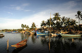 vietnam, hoi an: harbor poster