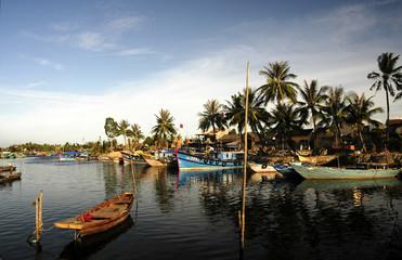 vietnam, hoi an: harbor