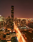 new york skyline night view poster