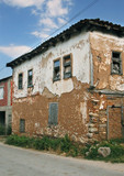 old abandoned house in village in macedonia poster