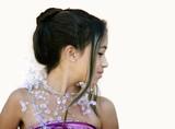 asian glamorous girl poster