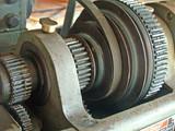 lathe gears, belt poster