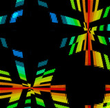 rainbow disco background poster