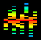 rainbow graphic equalizer