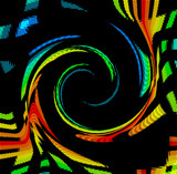 color spectrum swirl poster
