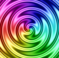 rainbow liquid twirl