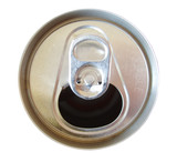 open soda can top isolated on white background poster
